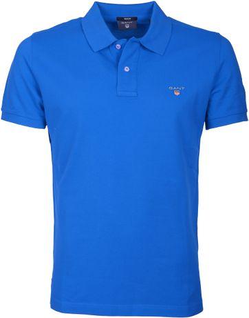 Gant Polo Basic Kobalt Blau