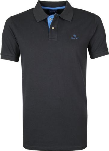 Gant Poloshirt Antraciet Blauw