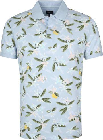 Gant Poloshirt Lemon Bloem Lichtblauw