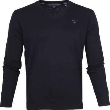 Gant Pullover Premium V-Hals Navy
