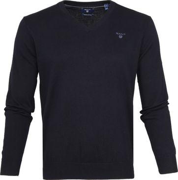 Gant Pullover Premium V-Neck Navy