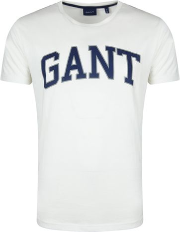 Gant T-shirt Graphic Blau Off-White