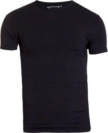 Garage Stretch Basic T-Shirt Schwarz Rundhals