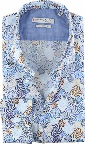 Giordano Overhemd Spiraal Blauw