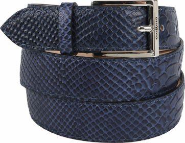 Giorgio Belt Anaconda Dark Blue