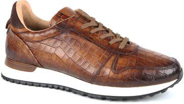 Giorgio Sneaker Adanti Croco Cognac