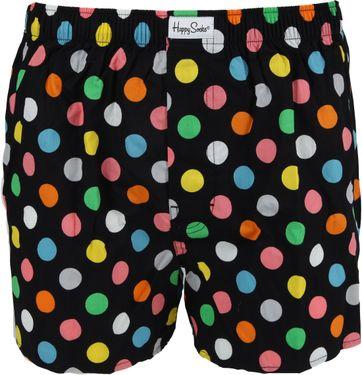 Happy Socks Boxershort Punkte Schwarz