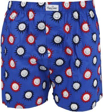 Happy Socks Boxershort Smile Blauw