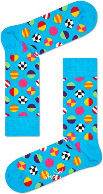 Happy Socks Clashing Dot Blauw