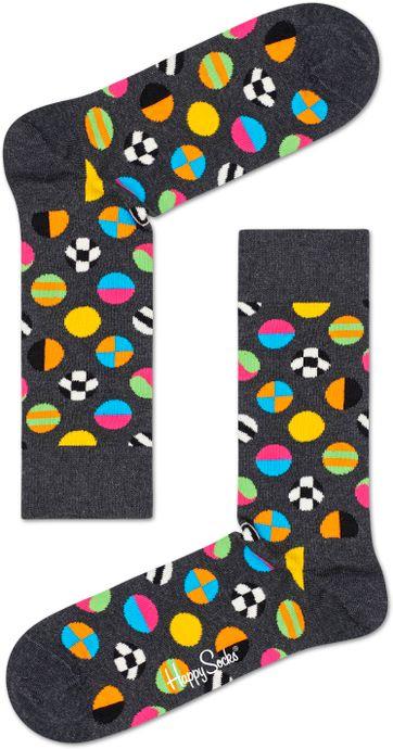 Happy Socks Clashing Dot Grijs
