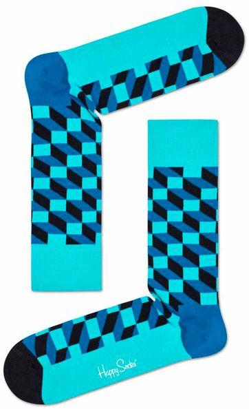 Happy Socks Filled Optic Blauw