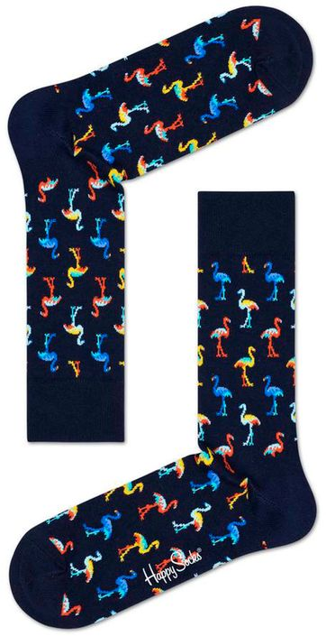 Happy Socks Flamingo Dark Blue