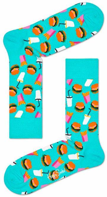 Happy Socks Hamburger Turquoise