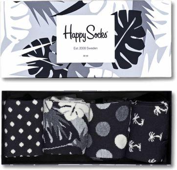 Happy Socks Schwarz & Weiß Gift Box