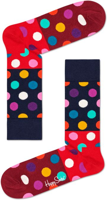 Happy Socks Squiggly Rood