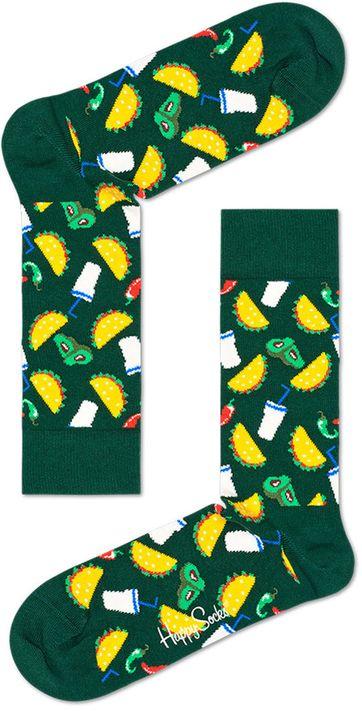 Happy Socks Taco Donkergroen