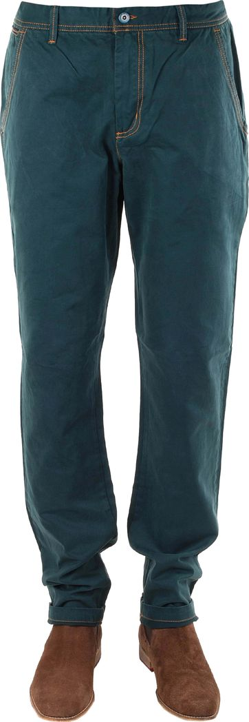 Heren Chino Sticked Twill Green