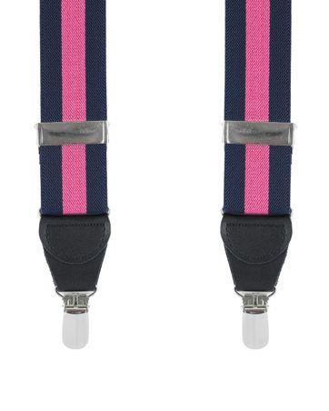 Hosenträger Navy Pink Streifen