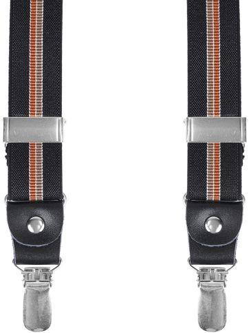 Hosenträger Schwarz Braun