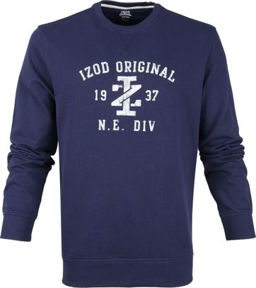 IZOD Casual Sweater Donkerblauw