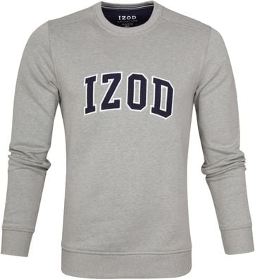 IZOD Fleece Sweater Sport Flex Hellgrau