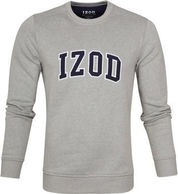 IZOD Fleece Sweater Sport Flex Light Grey