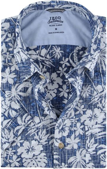 IZOD Overhemd Tropisch Blauw