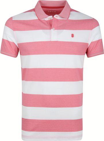 IZOD Performance Poloshirt Streifen Rosa