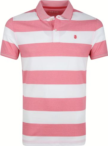 IZOD Performance Poloshirt Stripes Pink