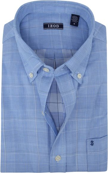 IZOD Shirt Check Light Blue