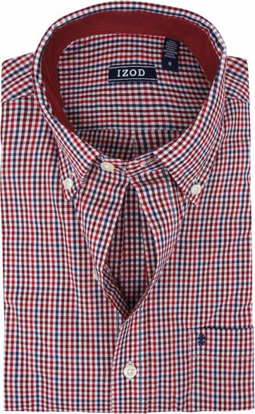 IZOD Shirt Check Red