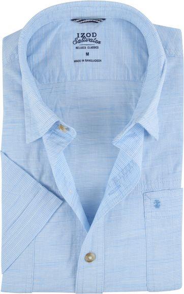 IZOD Shirt Stripes Blue