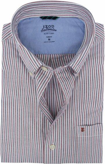 IZOD Shirt Stripes Red