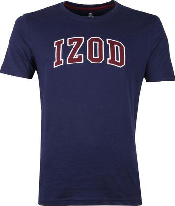 IZOD T-shirt Logo Tee Dunkelblau