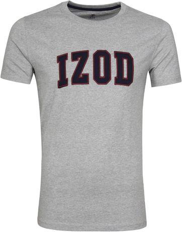 IZOD T-shirt Logo Tee Grijs