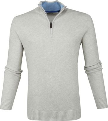 IZOD Zip Sweater Ecru