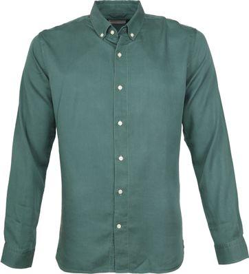 Knowledge Cotton Apparel Hemd Grün
