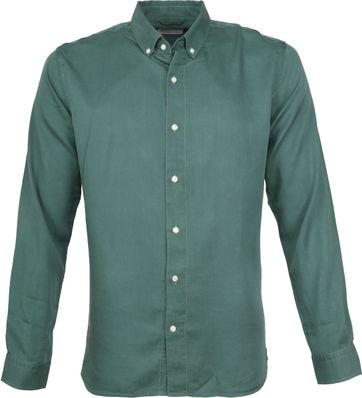 Knowledge Cotton Apparel Overhemd Groen