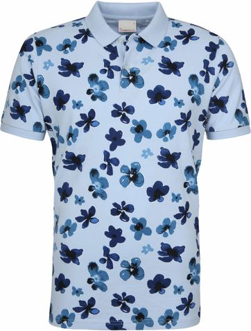 Knowledge Cotton Apparel Poloshirt Skyway Flower