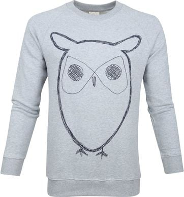 KnowledgeCotton Apparel Owl Grijs