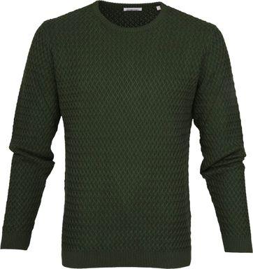 KnowledgeCotton Apparel Pullover Diamond Green