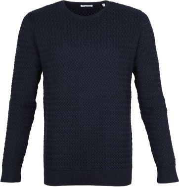 KnowledgeCotton Apparel Pullover Field Dunkelblau