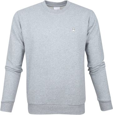 KnowledgeCotton Apparel Pullover Logo Grau