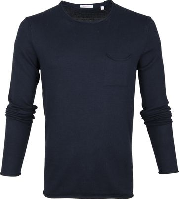 KnowledgeCotton Apparel Pullover Navy