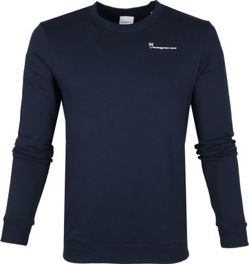 KnowledgeCotton Apparel Pullover Navy Logo