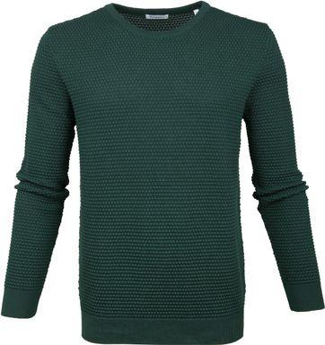 KnowledgeCotton Apparel Pullover Sailor Dark Green