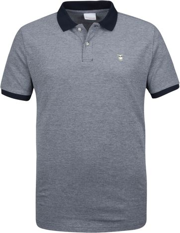KnowledgeCotton Apparel Rowan Poloshirt Navy