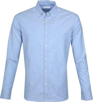 KnowledgeCotton Apparel Shirt Blue