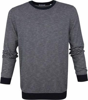 KnowledgeCotton Apparel Striped Pullover