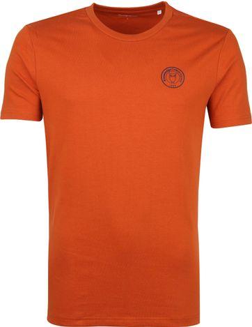 KnowledgeCotton Apparel T-shirt Alder Rust